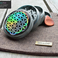 "Herb Grinder | Flower of Life |  2.5"" Custom Grinder 