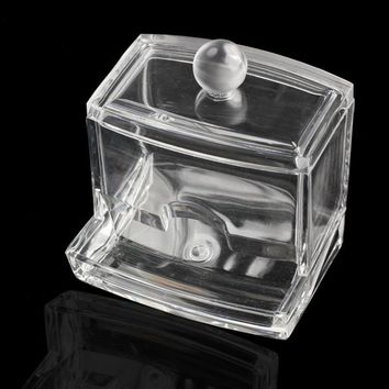 2017 Clear Acrylic Cotton Swab Q-tip Storage Holder Box Cosmetic Makeup Case Organizer 88