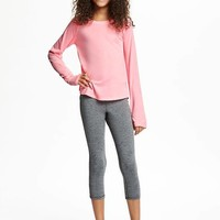 Go-Dry Relaxed Crew-Neck Tee for Girls | Old Navy