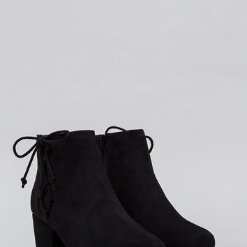 Side Track Chunky Lace-Up Booties