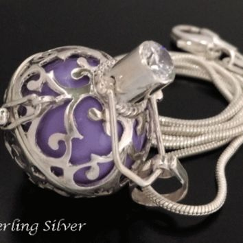 Sterling Silver Harmony Ball Necklace, Lavender Chime Ball [HBP870] - $48.95 : Harmony Ball, Over 250 Harmony Ball styles at Harmony Ball.net.au
