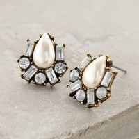 Pearldrop Cluster Posts by Anthropologie Pearl One Size Earrings