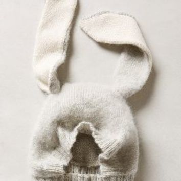 Bunny Ears Hat by Anthropologie Light Grey