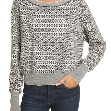 Theory Cashmere Jacquard Sweater | Nordstrom