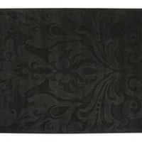 One Kings Lane - Black  White with Color - Rebecca Rug, Black