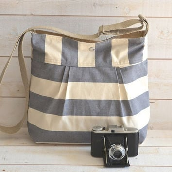 Water Proof Cross body bag / Diaper bag STOCKHOLM Gray by ikabags