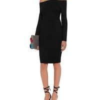 L'Agence Daphne Off The Shoulder Dress: Black | INTERMIX
