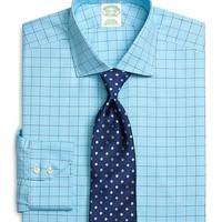 Supima® Cotton Non-Iron Extra-Slim Fit Spread Collar Twill Glen Plaid with Deco Luxury Dress Shirt - Brooks Brothers