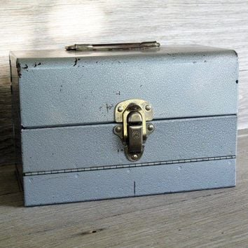 Vintage Metal/Industrial Container/Box by LetterKay on Etsy