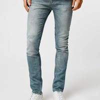 Dusty Grey Stretch Skinny Jeans - Topman