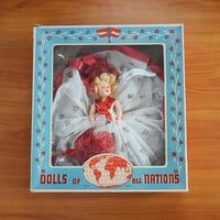 Vintage Duchess Dolls of All Nations Sweetheart Doll Original Box Valentines Day Doll