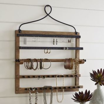 WALL-MOUNT JEWELRY HANGER