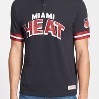 Men's Mitchell & Ness 'Miami Heat - Game Ball' Tailored Fit Short Sleeve Henley