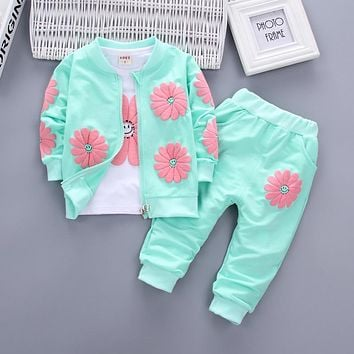 Baby Girls Clothing Set 2018 Winter Fashion Children Clothes Kids Toddler Sport Suit Cotton Tracksuit Clothes for 1 2 3 4 Years