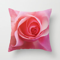 Pink Rose Throw Pillow by cafelab