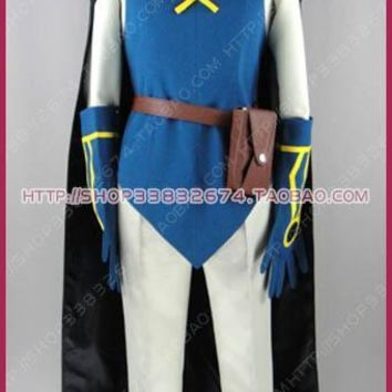 Pocket Monster Lucario and the Mystery of Mew Sir Aaron Cosplay Costume S002Kawaii Pokemon go  AT_89_9