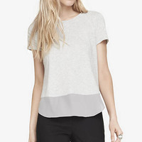 MIXED FABRIC TEE from EXPRESS