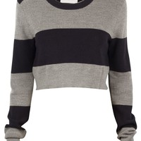 Brandie Stripe Crop Sweater