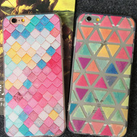 Original Triangle Quadrilateral iPhone 5s 5se 6 6s Plus Case Best Solid Cover + Gift Box 401