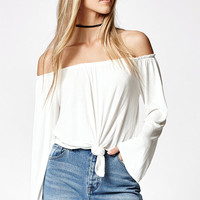 LA Hearts Long Sleeve Off-The-Shoulder Top at PacSun.com