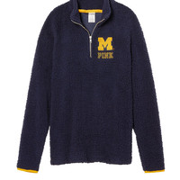 University Of Michigan Boyfriend Quarter-Zip - PINK - Victoria's Secret