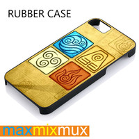 Avatar 4 Elements iPhone 4/4S, 5/5S, 5C, 6/6 Plus Series Rubber Case