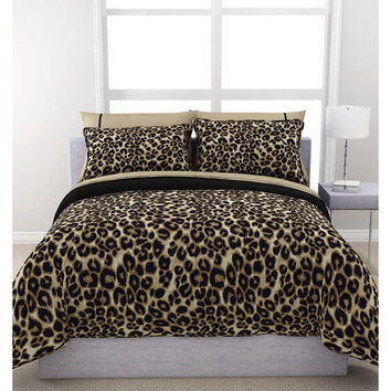 Walmart: Formula Brushstroke Cheetah Reversible Bed in a Bag Bedding Set