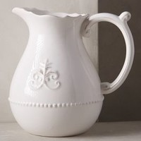Fleur De Lys Pitcher by Anthropologie in White Size: Pitcher Serveware