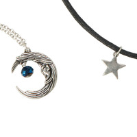 LOVEsick Moon Star Choker and Necklace Set