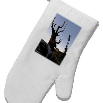 Colorado Mountain Scenery White Printed Fabric Oven Mitt by TooLoud