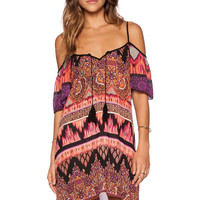 Band of Gypsies Bohemian Dress in Red Multi