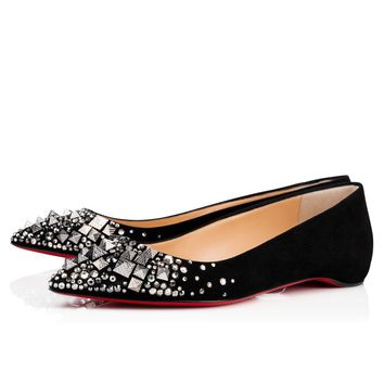 Christian Louboutin Cl Keopump Flat Black/mix Black Multi Strass 18s Special Occasion 1180347b132