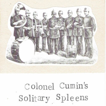Colonel Cumin's Solitary Spleens Club Band Funny Birthday Greeting Card Music Musician Band Steampunk Indie Beatles Humor Vintage Weird
