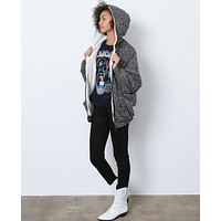 Go To Faux Shearling Jacket - Gray
