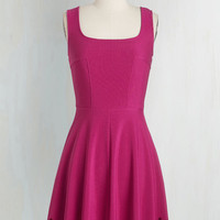 Mid-length Sleeveless A-line Eyelet Getaway Dress in Fuchsia