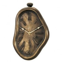 New Haven N91812HWCB 12 by 7 by 1-1/2-Inch Melting Bronze Clock