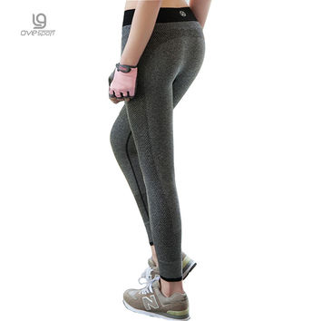 Women's Leggings High Waist Super Stretch Fitness Wicking Workout Seamless Leggings in Nylon Quick-drying