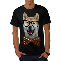T Shirt Summer Famous Clothing Gildan Men'S Short Smart Shiba Inu Dog Sharp Look Crew Neck Best Friend Shirts
