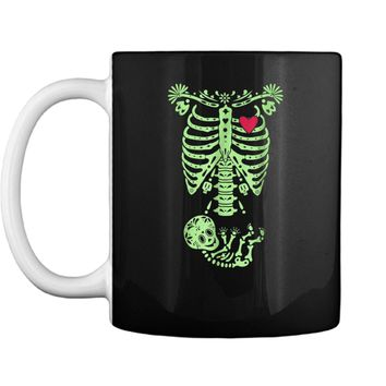 Pregnancy Halloween Costume Mexican Day Of The Dead  Mug