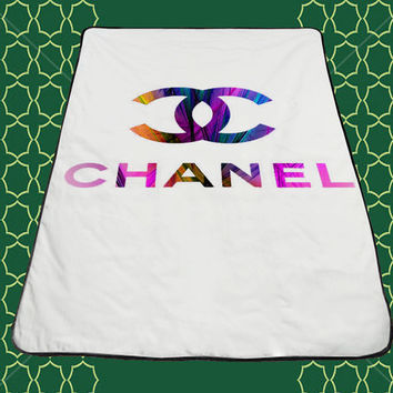 Colour logo Coco Chanel Blankets