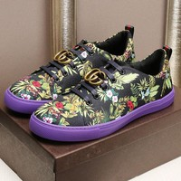 Gucci Man or Woman Fashion Multicolor Print Pattern Sneakers Sport Shoes