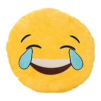 Laughing with Tears Yellow Emoji Plush Pillow