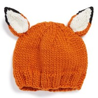 Infant The Blueberry Hill 'Rusty Fox' Knit Hat - Orange