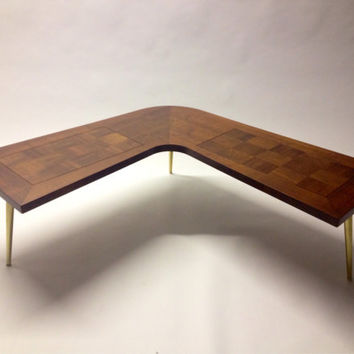 Mid-century boomerang coffee table