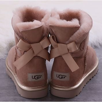 UGG Mini Belly's Butterfly-knotted Snow Boots