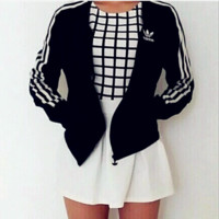 Adidas Zipper Fashion Coat Jacket Sweatshirt