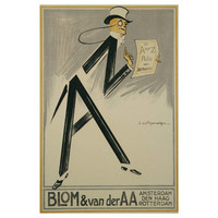 Dutch Art Deco Period Insurance Poster by Raemaekers, 1920s