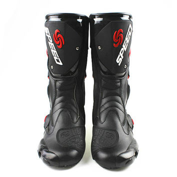motorcycle shoes motorcycle race thigh boots cross-country boots game shoes cross-country knight boots     black  40