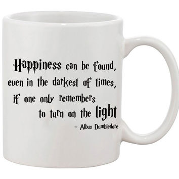 Harry Potter Happiness Can Be Found Albus Dumbledore Movie Coffee Mug birthday holiday gift Espresso Cups customized