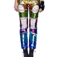 Sequin Rainbow Jeans